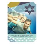 Hanukkah Criss Cross Star of David Photo Holiday Personalised Announcements