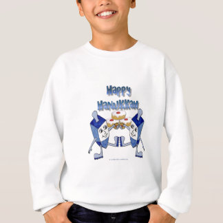 Hanukkah Dancing Dreidels and Jelly Doughnuts Sweatshirt