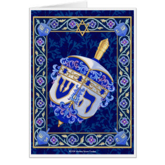 Hanukkah Dreidel Notecard