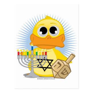 Hanukkah Duck Postcard