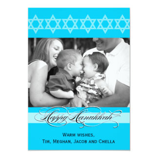 Hanukkah Fancy Script  Photo Cards 13 Cm X 18 Cm Invitation Card