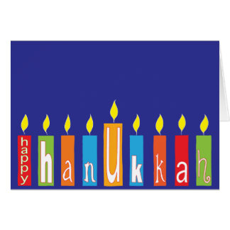 "Hanukkah Greeting Card/Envelope ""Hanukkah Candles"" Card"
