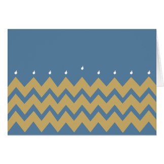 "Hanukkah Greeting Card/Envelope ""Hanukkah Chevron"" Card"