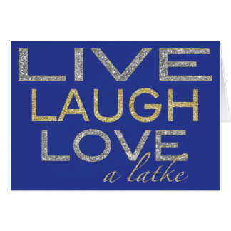 "Hanukkah Greeting Card/Envelope ""LiveLoveALatke"" Card"