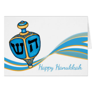 Hanukkah Greeting Card With Dreidel