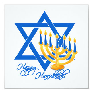 Hanukkah invitation, customize 13 cm x 13 cm square invitation card