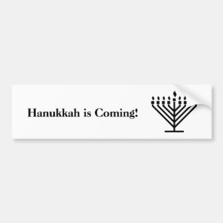 Hanukkah is Coming - bumper sticker