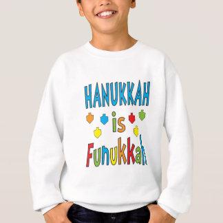 """""""Hanukkah is Funukkah"""" Sweatshirt with Dreidels"""