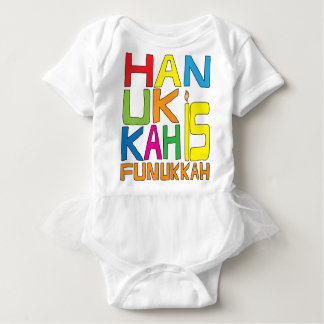 """Hanukkah is Funukkah"" White TuTu Baby Bodysuit"