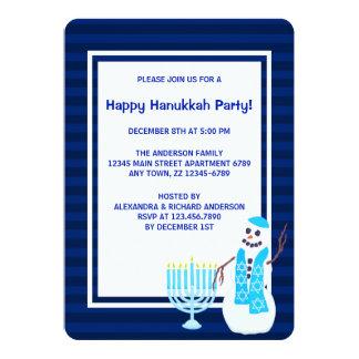 Hanukkah Jewish Snowman Menorah Chanukkah Party 13 Cm X 18 Cm Invitation Card