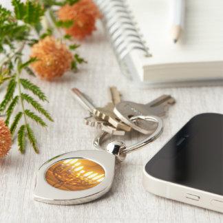Hanukkah keychain Silver-Colored swirl key ring