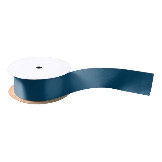 Hanukkah Lights Nighttime Blue Satin Ribbon