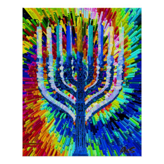HANUKKAH LIGHTS POSTER