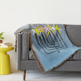 HANUKKAH LIGHTS THROW BLANKET