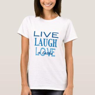 """Hanukkah """"Live Laugh Love a Latke"""" Blue T-Shirt"""