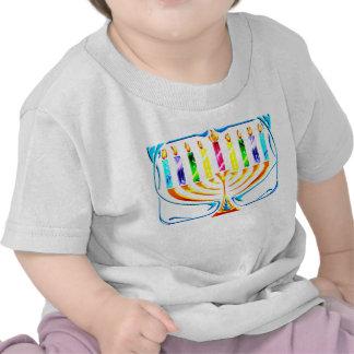 Hanukkah Menorah - Chanukah Menorah Tee Shirt
