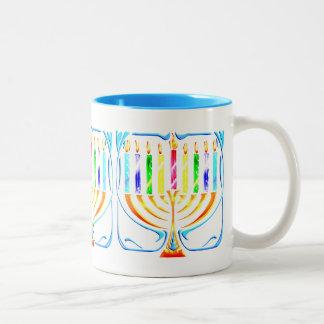 Hanukkah Menorah - Chanukah Menorah Two-Tone Mug