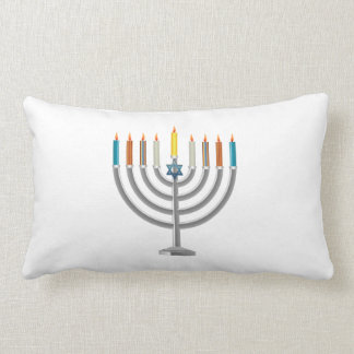 Hanukkah menorah lumbar cushion
