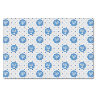 Hanukkah  Menorah on Polka Dots Tissue Paper