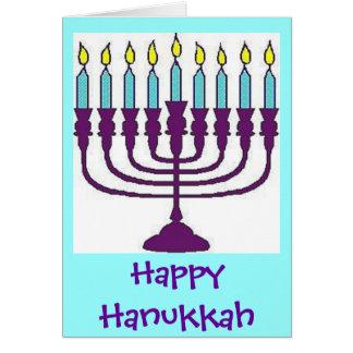 Hanukkah Menorah Shalom Greeting Card