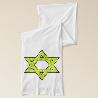 Hanukkah Menorah Star of David Scarf