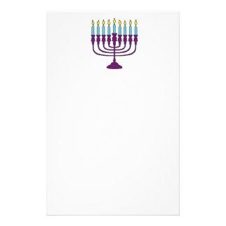 Hanukkah Menorah Stationery