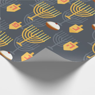 Hanukkah  Menorah Wrapping Paper