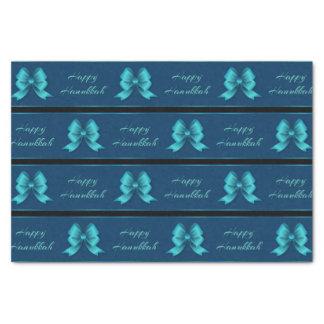 Hanukkah Metallic Bows & Stripes Tissue Paper