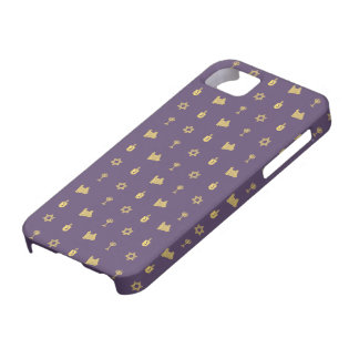 Hanukkah Motif purple iPhone 5 Barely There Case For The iPhone 5