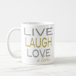 "Hanukkah Mug ""Live Laugh Love a latke"""