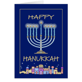 Hanukkah Night Greeting Card