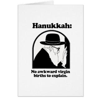 Hanukkah - No awkward virgin births Greeting Card