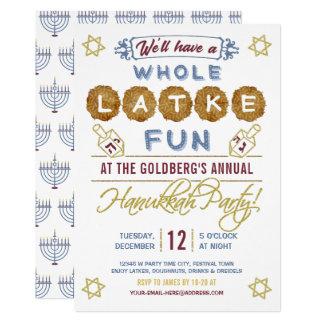 Hanukkah Party Funny   Whole Latke Fun Card