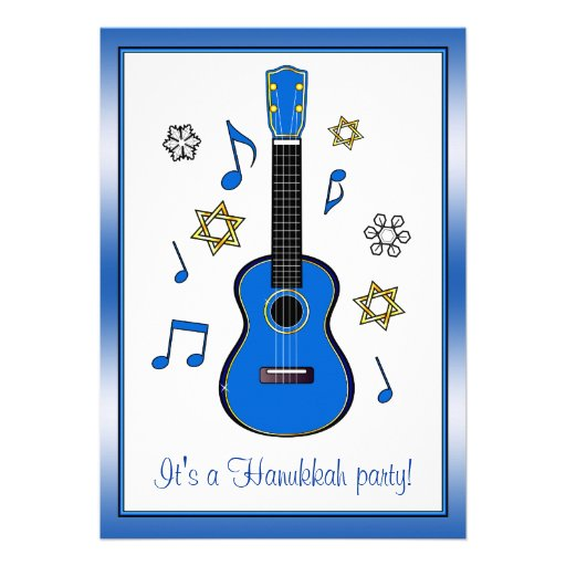 Hanukkah Party with Music and Ukulele Cards