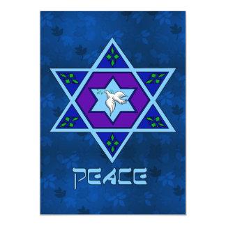 Hanukkah Peace Art 13 Cm X 18 Cm Invitation Card