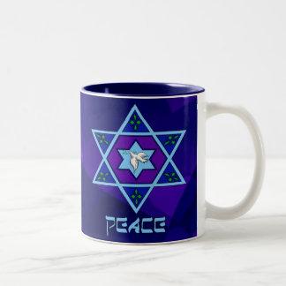 Hanukkah Peace Art Two-Tone Mug