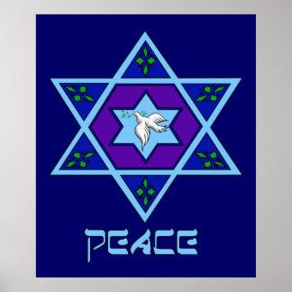 Hanukkah Peace Art Poster