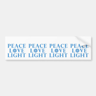Hanukkah - Peace Love Light Bumper Sticker