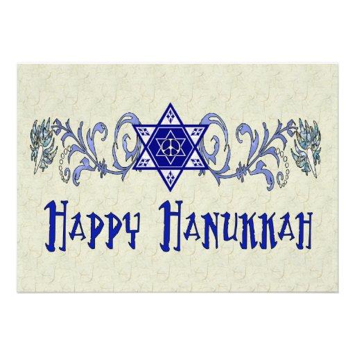 Hanukkah Peace Star Personalized Announcements