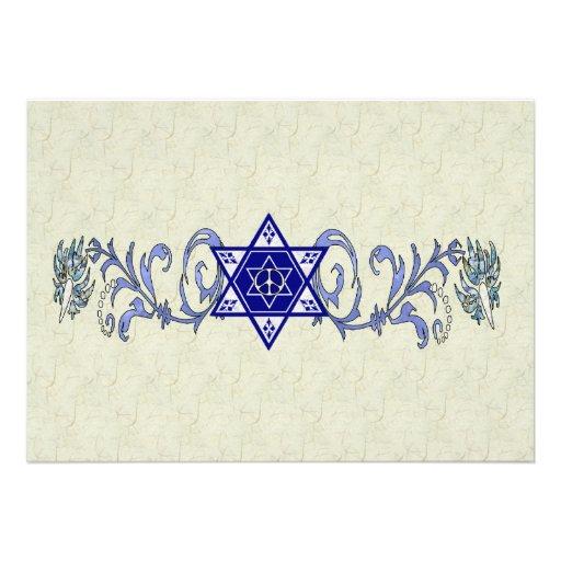 Hanukkah Peace Star Custom Invites