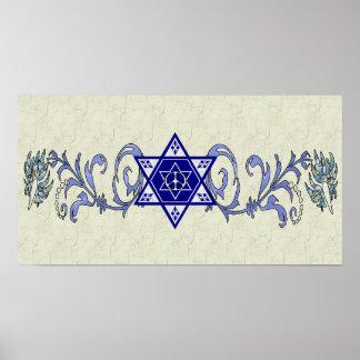 Hanukkah Peace Star Poster