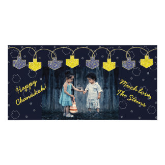 "Hanukkah Photo Card ""Dreidel Banner"""