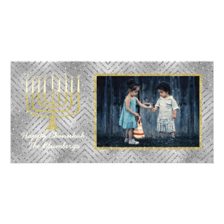 "Hanukkah Photo Card ""Elegant Menorah"""