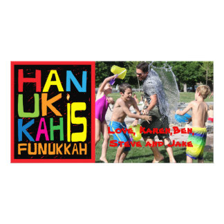 "Hanukkah Photo Card/envelope ""Hanukkah is Funukkah Card"