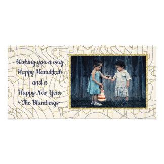 """Hanukkah Photo Card """"Stars & Dreidels"""""""