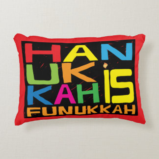 "Hanukkah Pillow ""Hanukkah is Funukkah"""