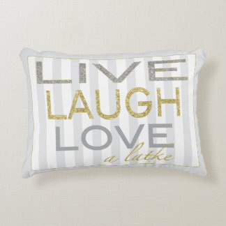 """Hanukkah Pillow """"Live Laugh Love a Latke"""""""