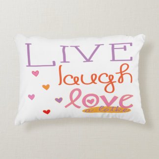 "Hanukkah Pillow ""Live Laugh Love a Latke"" Hearts"