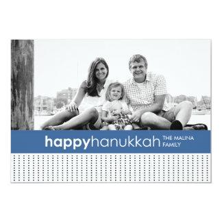 Hanukkah Polka Dot Photo Card 13 Cm X 18 Cm Invitation Card