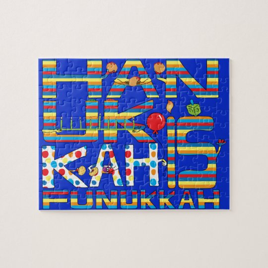 "Hanukkah Puzzle for Kids/Bl ""Hanukkah is Funukkah"""